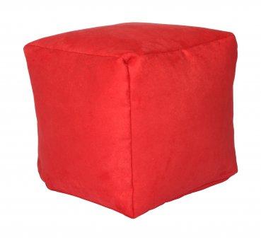 Sitzwürfel Pouf, rot  40x40x40cm
