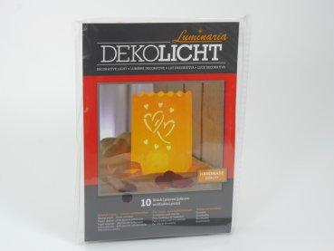 Luminaria Deko Lichttüten mittel, Motiv Big Love Herz, 10Stk.