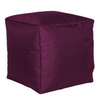 Sitzwürfel Nylon, aubergine 40x40x40cm