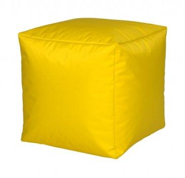 Sitzwürfel Nylon, gelb 40x40x40cm