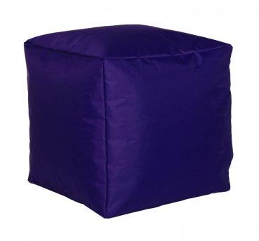 Sitzwürfel Nylon, lila 40x40x40cm
