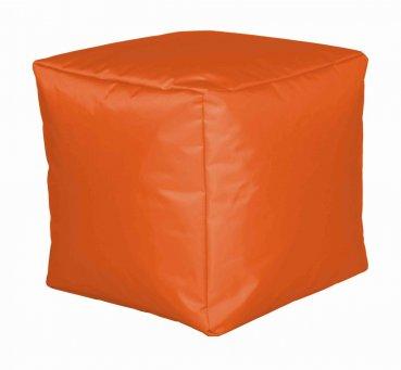 Sitzwürfel Nylon, orange  40x40x40cm