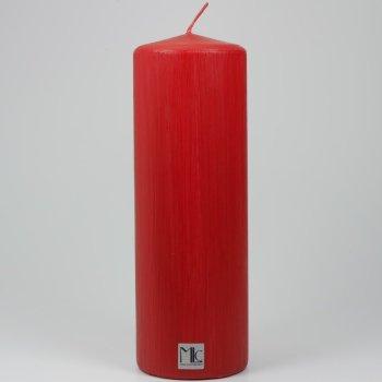 Farbige Stumpenkerze rot matt 200/70mm