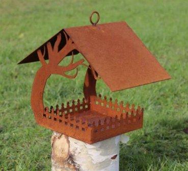 Edelrost Vogelhaus Futterhaus