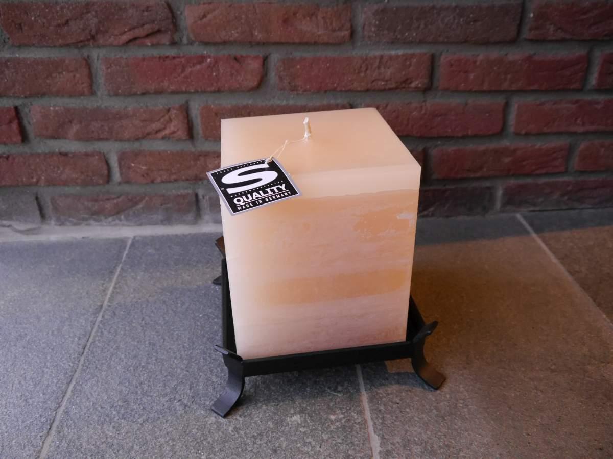 landhaus outdoor kerze quader gro champagner online shop. Black Bedroom Furniture Sets. Home Design Ideas